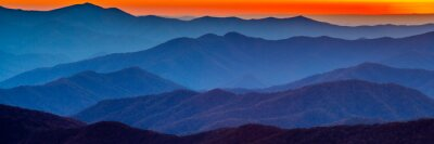 Naklejka Smoky Mountain sunset