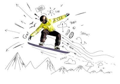 Naklejka Snowboard