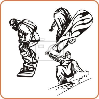 Snowboard. Extreme sport.