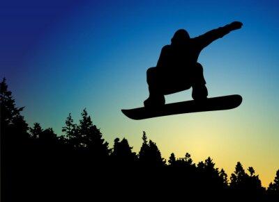 Naklejka Snowboard Jump