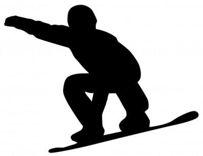 Naklejka Snowboarder