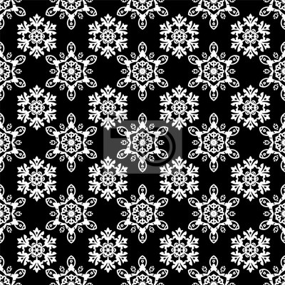 Naklejka Snowflakes Christmas pattern, seamless vector background