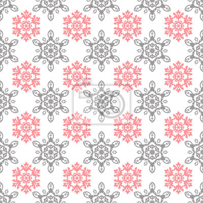 Naklejka Snowflakes Christmas pattern, seamless vector background