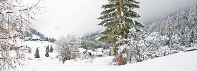 Naklejka Snowy góry w zimie