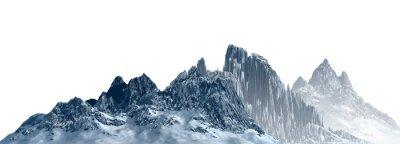 Naklejka Snowy mountains Isolate on white background 3d illustration
