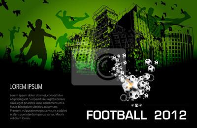 Soccer City Plakat grunge