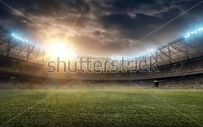 Naklejka soccer field