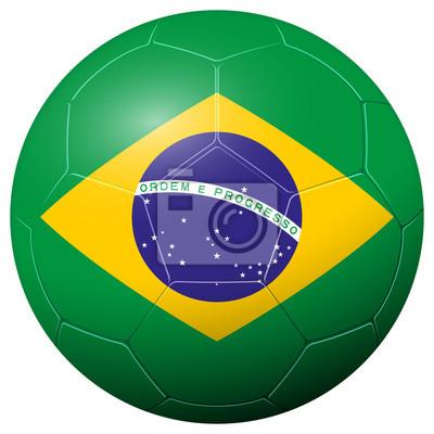 Soccer football - country flag BRAZIL