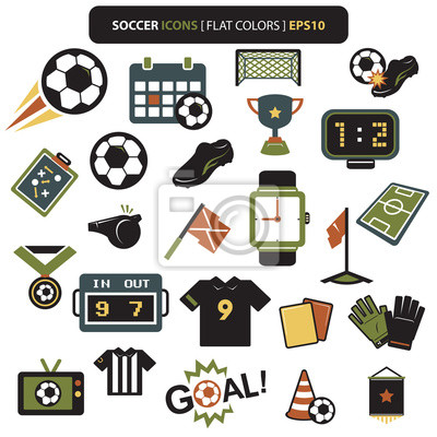 Soccer icons colors