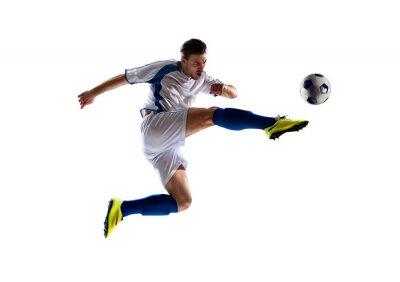 Naklejka soccer player in action