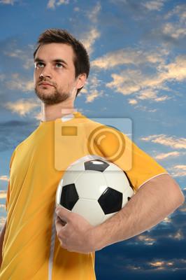 Socer gracz posiadający Ball