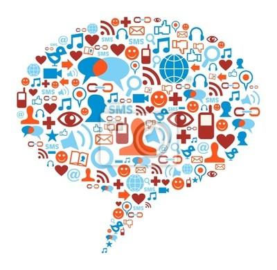 Naklejka Social Media bubble concept