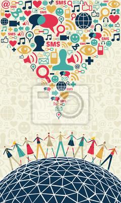 Social media concept osób