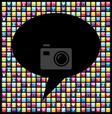 Social media smartphone pojęcie ikona aplikacji