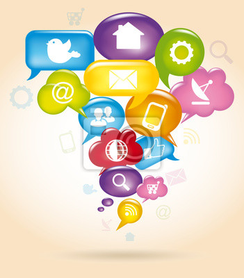 Naklejka Social Network
