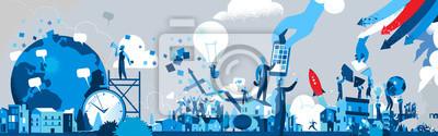 Naklejka Società dell'Innovazione e della Comunicazione - Illustrazione vettoriale