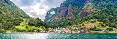 Naklejka Sognefjord w Norwegii