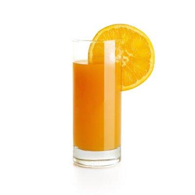 Naklejka Sok pomarańczowy z plasterkiem