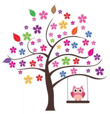 Naklejka Sowa w drzewo