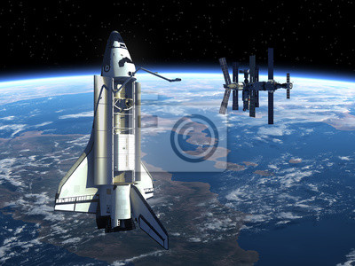 Space Shuttle A Space Station