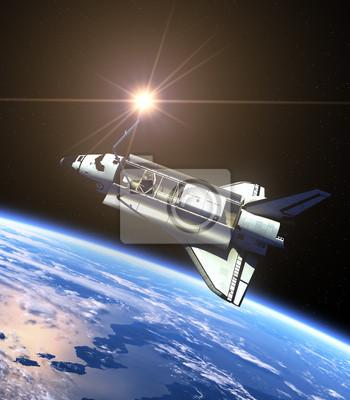 Space Shuttle I Słońce