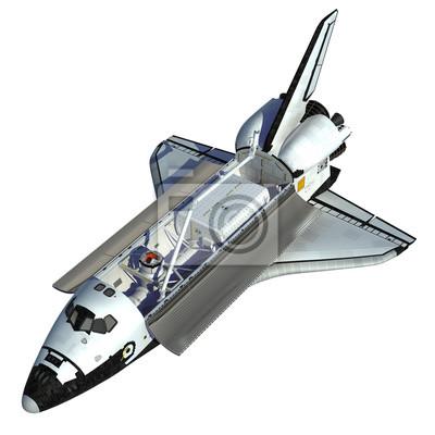 Space Shuttle na białym tle