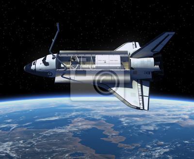 Space Shuttle orbicie Ziemi.
