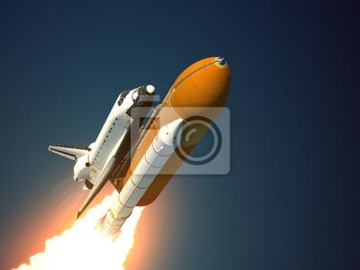 Space Shuttle startuje