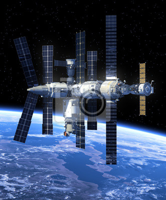Space Station In Space.