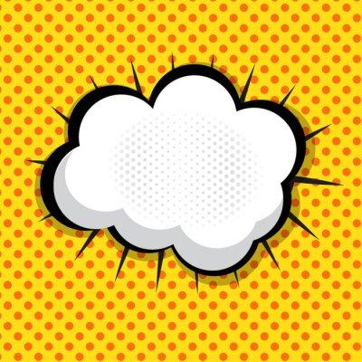 Naklejka Speech Bubble Pop Art tła Na tle dot Vector illust