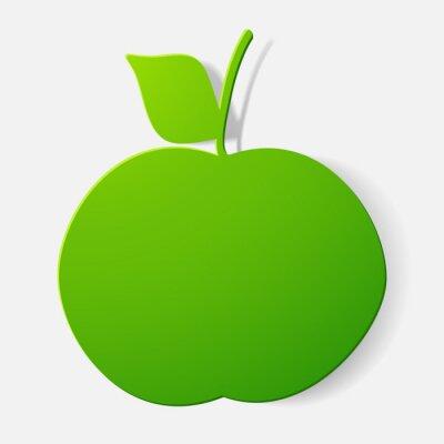 Naklejka Spinaczem naklejki: owoce, jabłko