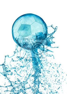 Splash nożnej balll izolowane