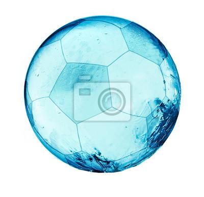 Splash Piłka nożna balll na białym tle