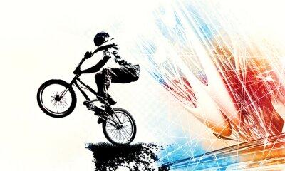 Naklejka Sport illustration of bmx rider