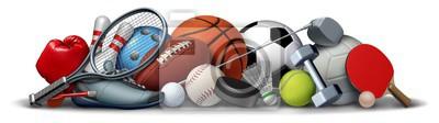 Naklejka Sport Objects