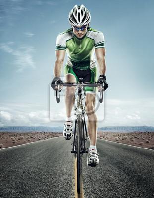 Naklejka Sport. Rowerzysta drogowego.