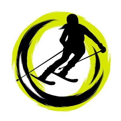 Naklejka Sporty zimowe - 23