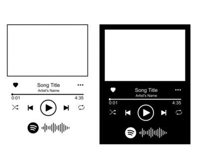 Naklejka Spotify glass art, Spotify Glass SVG, Music Player SVG, Audio Control Buttons svg, DIY Project Music Control, Music Player svg, Digital File