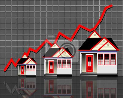 Sprzedaż domów na rynku rośnie.