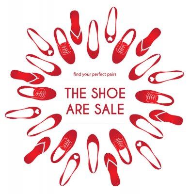 Sprzedaż obuwia plakat reklamowy banner