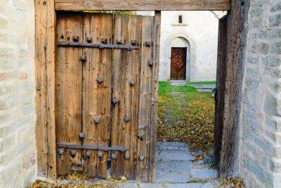 Naklejka Średniowieczny kościół