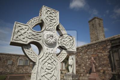 Naklejka St Andrews Cathedral north sea Scotland celtics cemetery