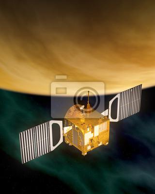 """Stacja kosmiczna """"Venus Express"""" Planeta Wenus na orbicie"""