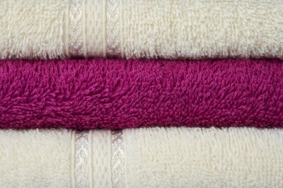 Stack of bath towels. Background
