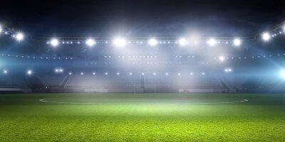 Naklejka Stadion piłkarski w światłach. różne środki przekazu
