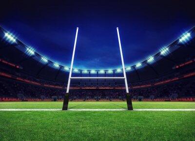 stadion rugby plac zabaw z bramki