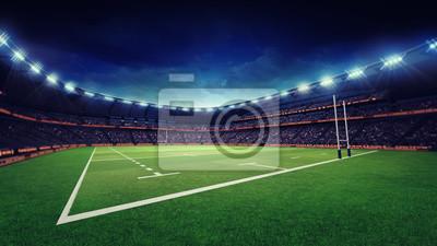 stadion rugby z zielonej trawy placu zabaw