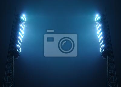Naklejka Stadion Światła przed ciemnym niebie z miejsca kopiowania