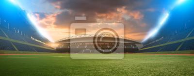 Naklejka stadium night before the match
