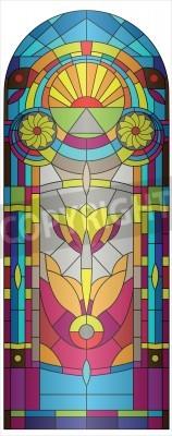Naklejka  stained-glass